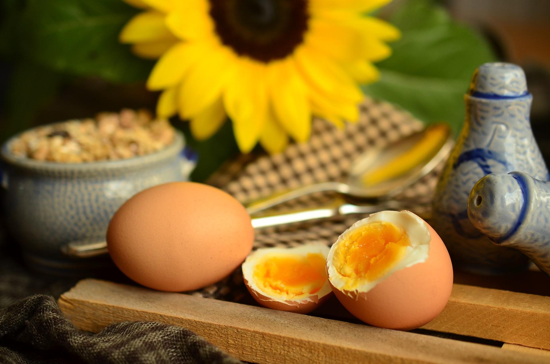 vejce z rýžovaru