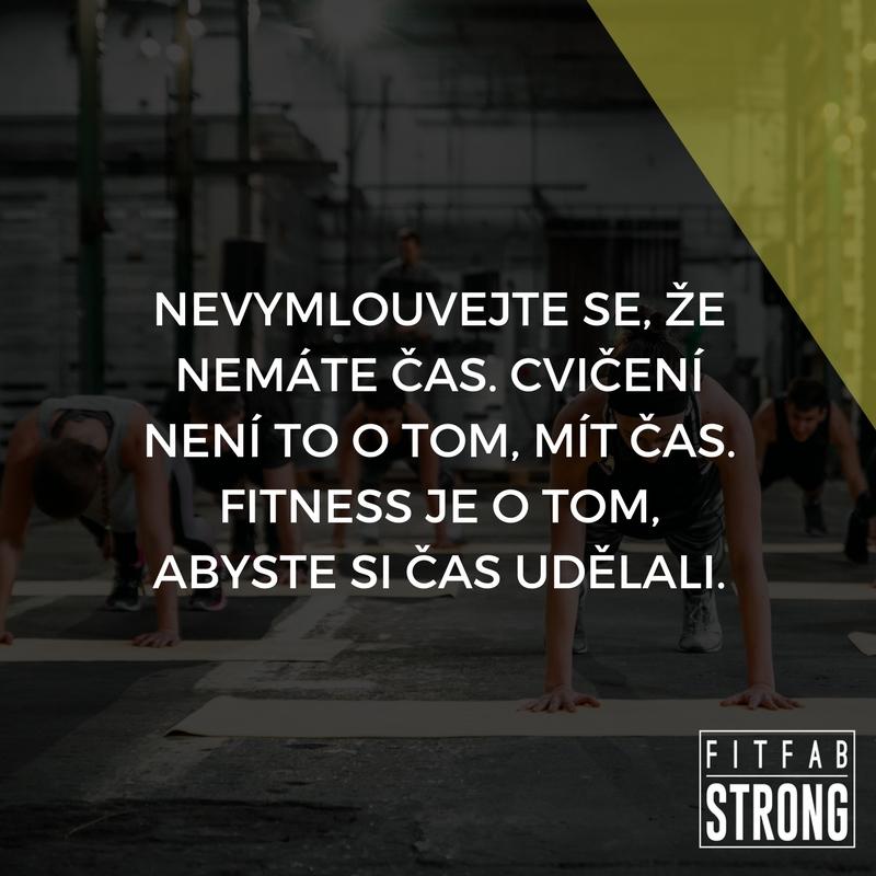 fitness motivace cas
